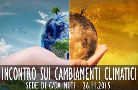 Incontro sui cambiamenti climatici - C.da Muti