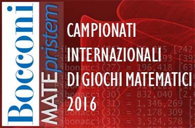 Campionati Internazionali di Giochi Matematici 2016