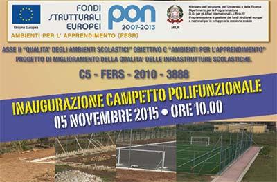 Inaugurazione del campetto sportivo polifunzionale