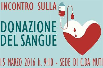 Incontro sulla donazione del sangue