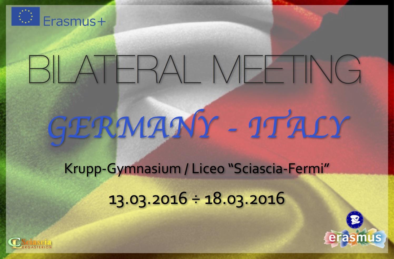 Erasmus+ - Bilateral Meeting con il Krupp Gymnasium - 13-18.03.2016