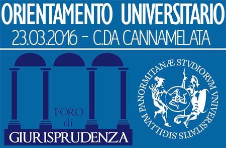 Orientamento UniPa - Foro di Giurisprudenza - Sede di C/da Cannamelata
