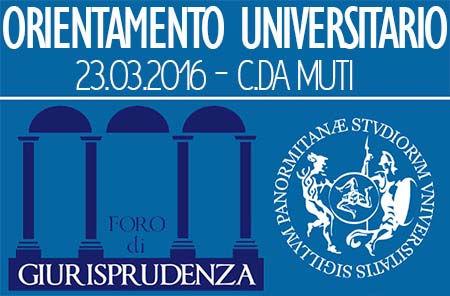 Orientamento UniPa - Foro di Giurisprudenza - Sede di C/da Muti