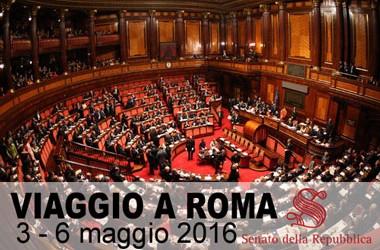 Visita a Roma per assistere ad una seduta del Senato della Repubblica