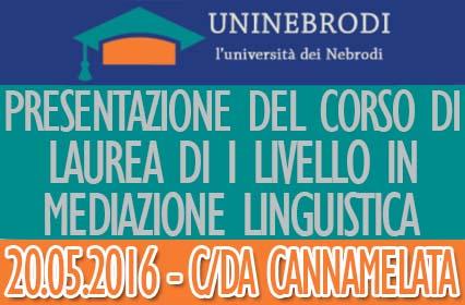 Presentazione del Corso di Laurea di I livello in Mediazione Linguistica