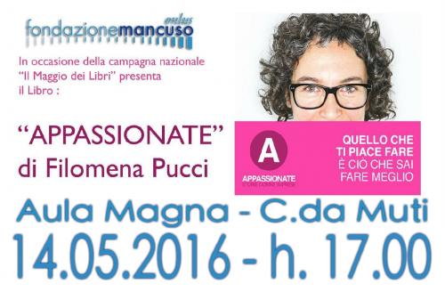 """Incontro con Filomena Pucci, autrice di """"Appassionate"""""""