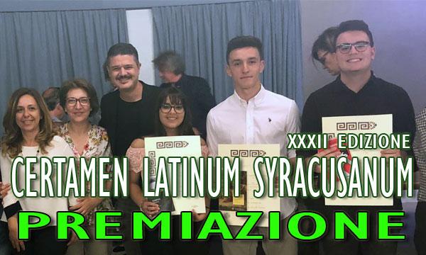 Premiazione XXXII Edizione Certamen Latinum Syracusanum