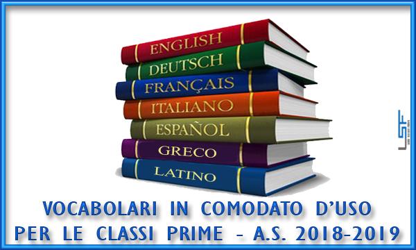 Vocabolari in comodato d'uso - a.s. 2018/19