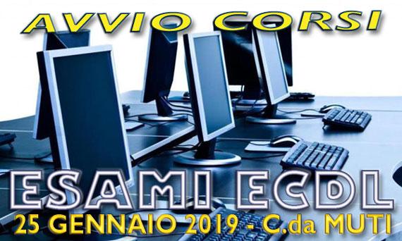 Avvio Corsi ed Esami ECDL sessione di gennaio