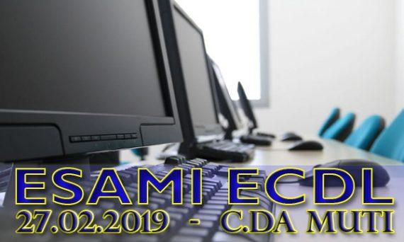 Esami ECDL febbraio 2019